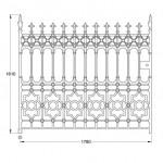 GA006 Stewart driveway gate (12ft pair, 450kg)