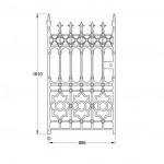 GA007 Stewart pedestrian gate (900mm, 117kg)