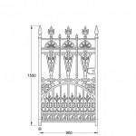 GA010 Gilberton pedestrian gate (900mm, 128kg)