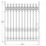 GA025 Stirling driveway gates (12ft pair, 510kg)