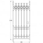 GA028 Stirling pedestrian gate (900mm, 142kg)