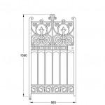 GA034 Prospect pedestrian gate (900mm, 102kg)