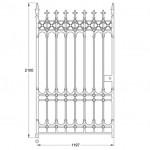 GA114 Stirling pedestrian gate (1200mm, 178kg)