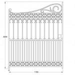 GA185 Richmond driveway gates (12ft pair, 530kg)